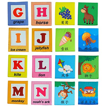 LALABABY 26 Letters Cloth Card with Cloth bag Early Education Toy for Over 0 Years - image 2 de 4