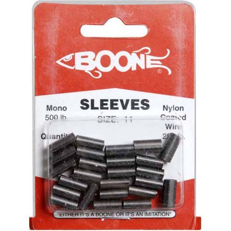 Boone Bait Deluxe Black Big Game Sleeves, 25-Pack, Size B-11