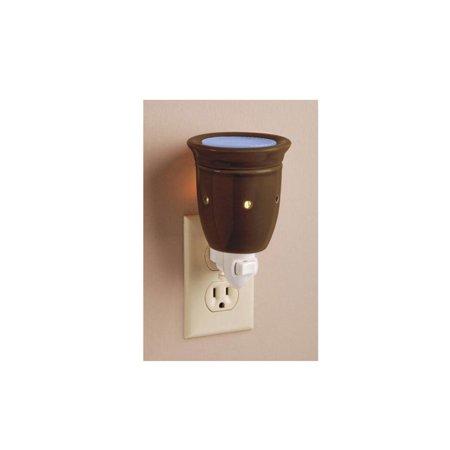 "5.5"" Decorative Chocolate Brown Ceramic Wax Warmer Night Light - image 1 of 1"