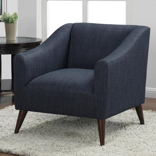 I Love Living Quincy Blue Linen Upholstered Arm Chair