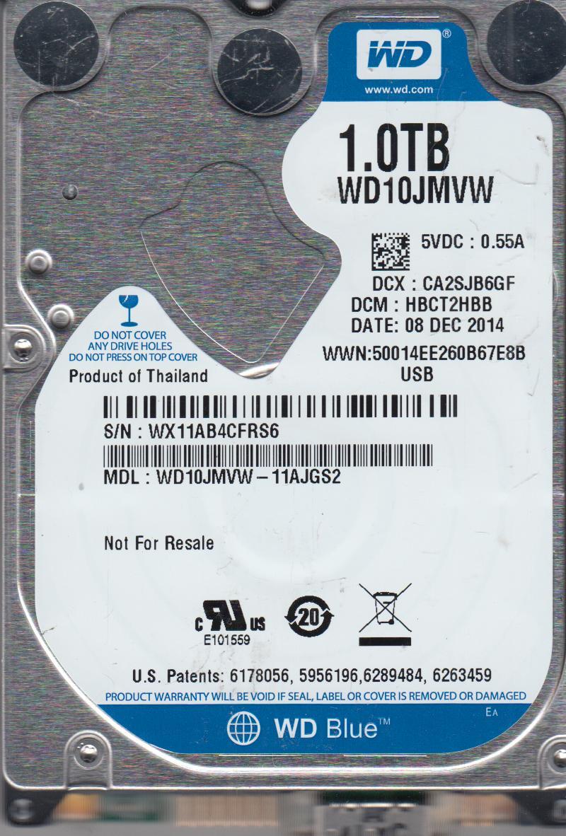 WD10JMVW-11AJGS2, DCM HBCT2HBB, Western Digital 1TB USB 2.5 Hard Drive by Western Digital
