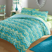 your zone ruched chevron bedding comforter and sham set