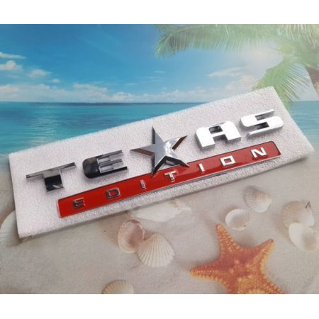 ABS S/R TEXAS Edition Emblem Door Badge Decal Sticker Fit for Chevy Ford Dodge