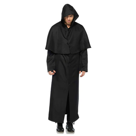 Leg Avenue Men's Plague Doctor Black Hooded Cloak - Purple Cloak With Hood