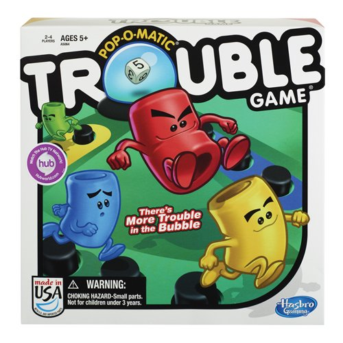 Trouble Game, Brand Best Quality Warranty,From U.S, Brand Hasbro by