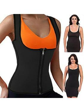 SLIMBELLE Neoprene Sauna Suit Tank Top Vest for Women Latex Sport Girdle Waist Trainer Corset