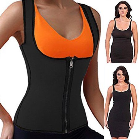 SLIMBELLE Neoprene Sauna Suit Sweat Tank Top Vest for Women Sport Girdle Weight loss