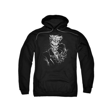 Batman DC Comics Joker's Splatter Smile Adult Pull-Over Hoodie - Adult Batman Hoodie