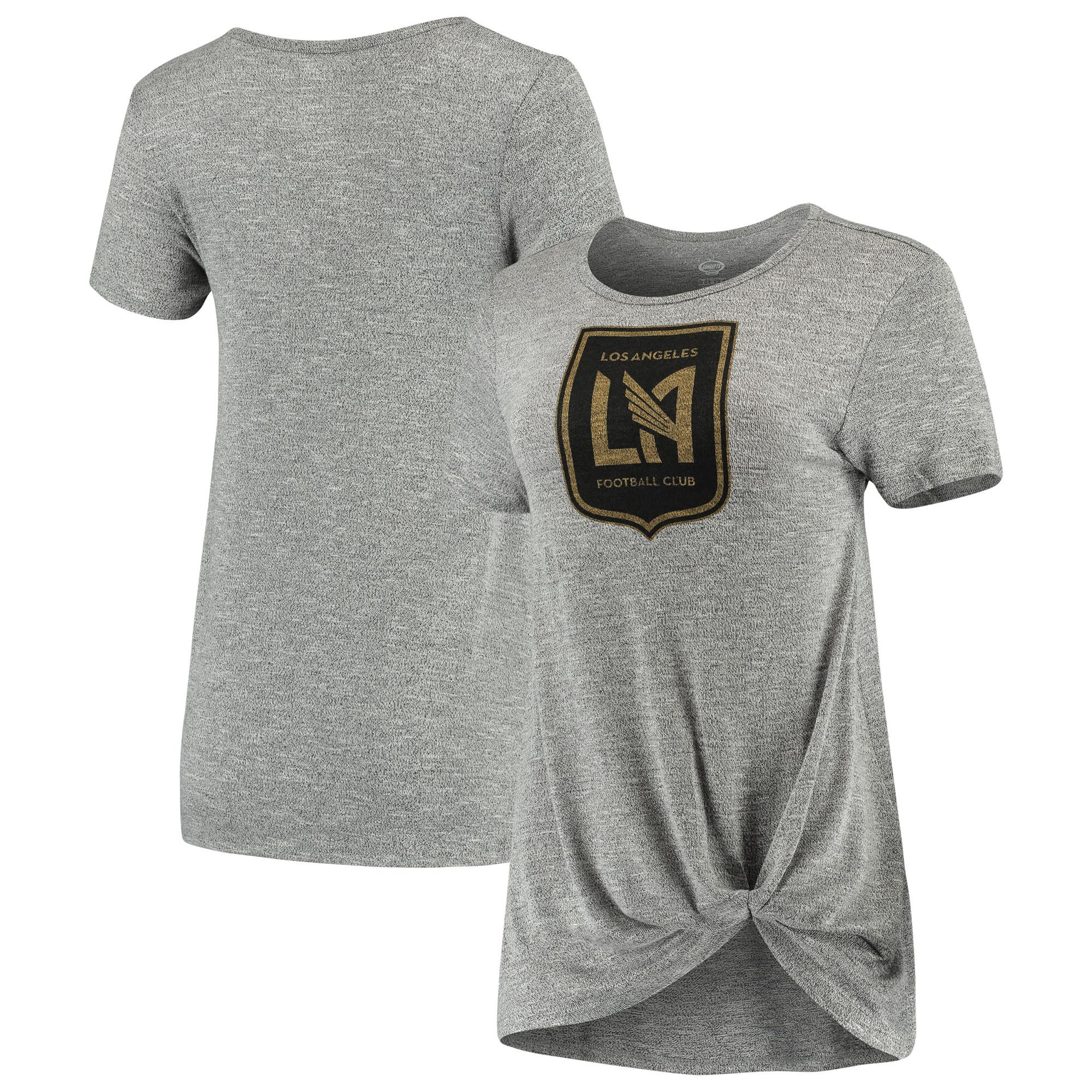LAFC Concepts Sport Women's Layover Knot Tri-Blend T-Shirt - Gray