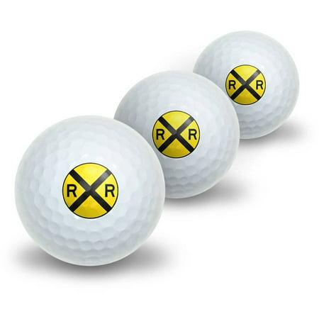 Railroad crossing Traffic Sign Train Novelty Golf Balls, - Train Novelties