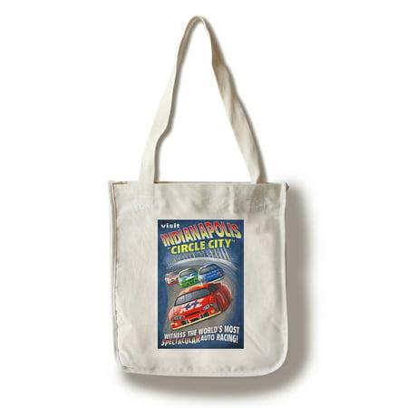 Indianapolis, Indiana - Indianapolis Circle City Vintage Sign - Lantern Press Poster (100% Cotton Tote Bag - Reusable)