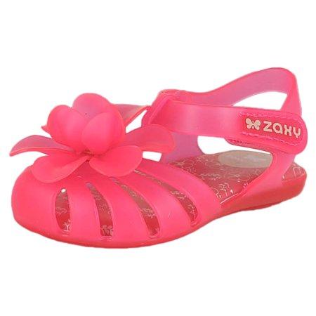 ac464290595c Zaxy - Zaxy 82059-90208   Garden Baby Pink Infant Girls Ankle Strap (5 M US)  - Walmart.com