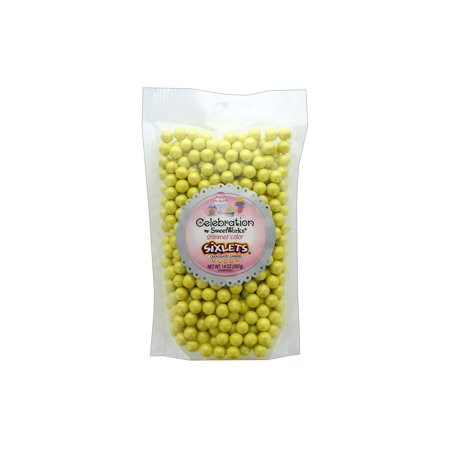 SweetWorks Sixlets 14oz Stand Up Bg Shimmer Yellow - Wedding Sixlets
