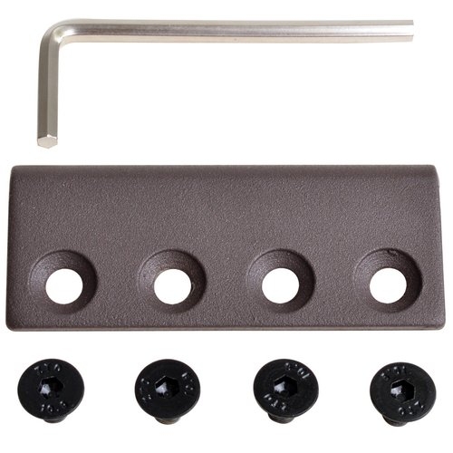 TMS Steel Sliding Flat Rail Connector Replacement Part Barn Door Hardware