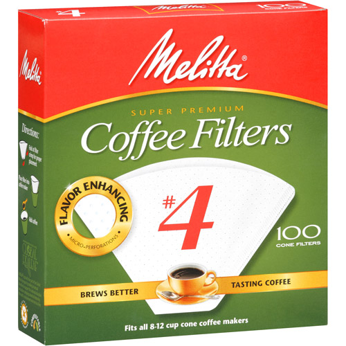 Melitta No. 4 Cone Coffee Filters, 100 count