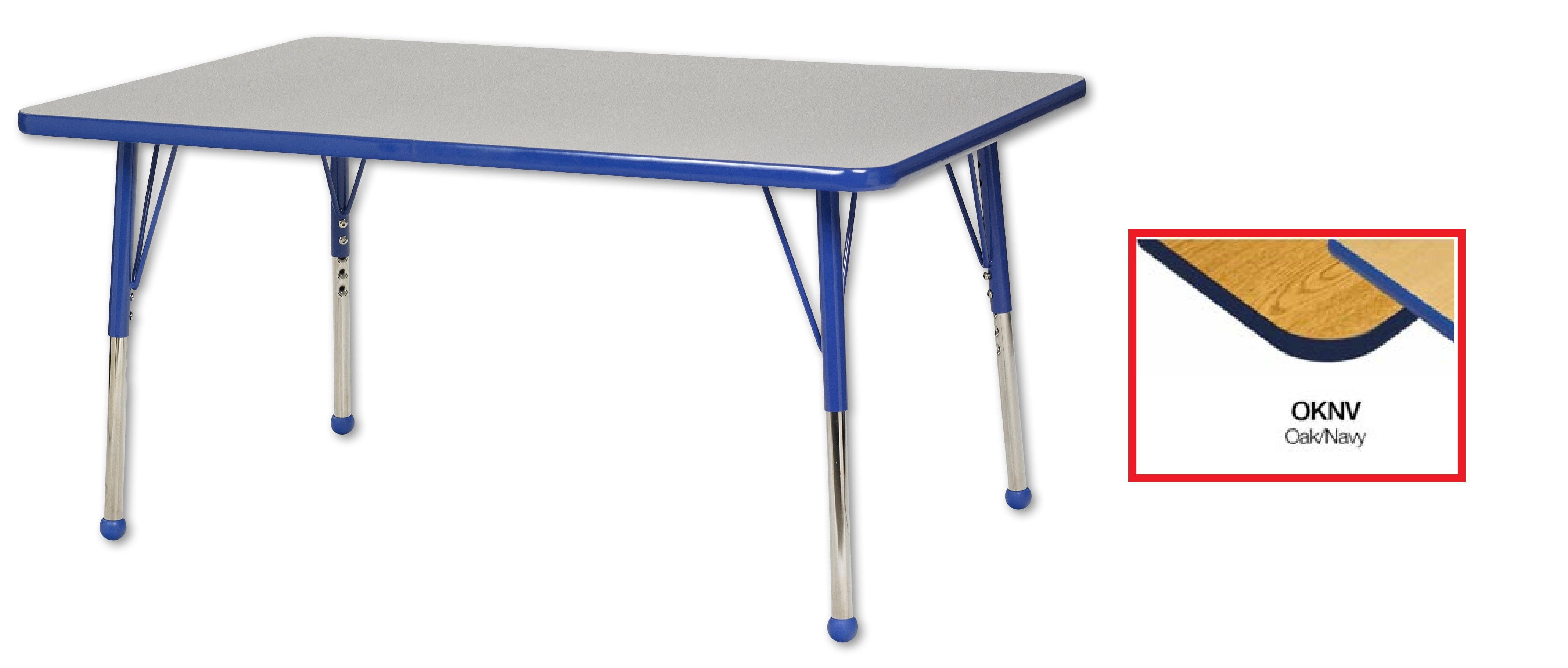 "ECR4Kids 30""x48"" Rectangular T-Mold Adjustable Activity Table by ECR4Kids"