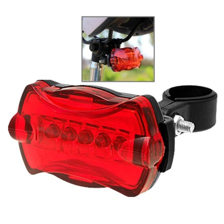Bicycle Tail Light, Ultra Bright Laser Light Waterproof Safety Warning Rear Light Red LED Backlight Flashlight Lamp for Mountain Bike 5 LED 7 FLashing Modes Bright Waterproof Led