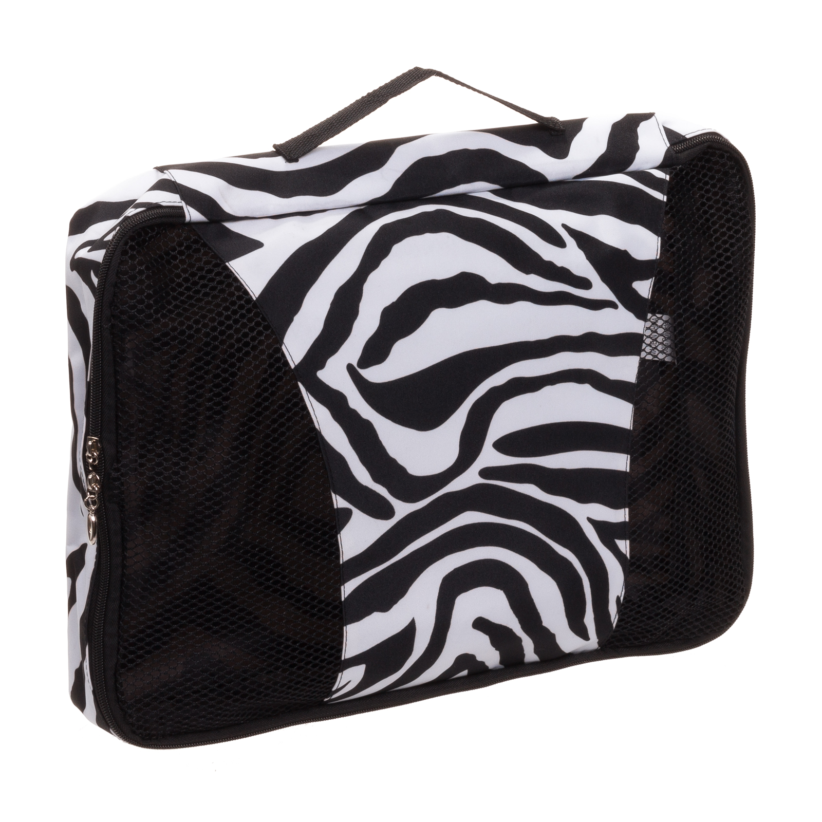 Womens Zebra Travel Large Laundry Mesh Panel Packing Cube w/ Handle LCP-Z NWT