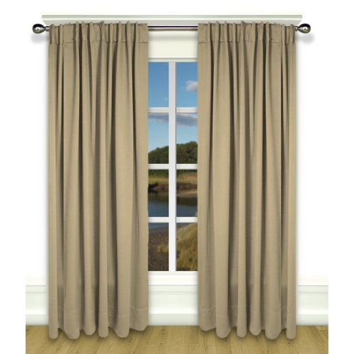 Ultimate Blackout Rod Pocket Curtain Panel - Putty