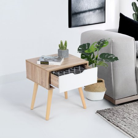 Furniture R End Table/Nightstand/Sofa Table with Storage Drawer - image 3 of 6