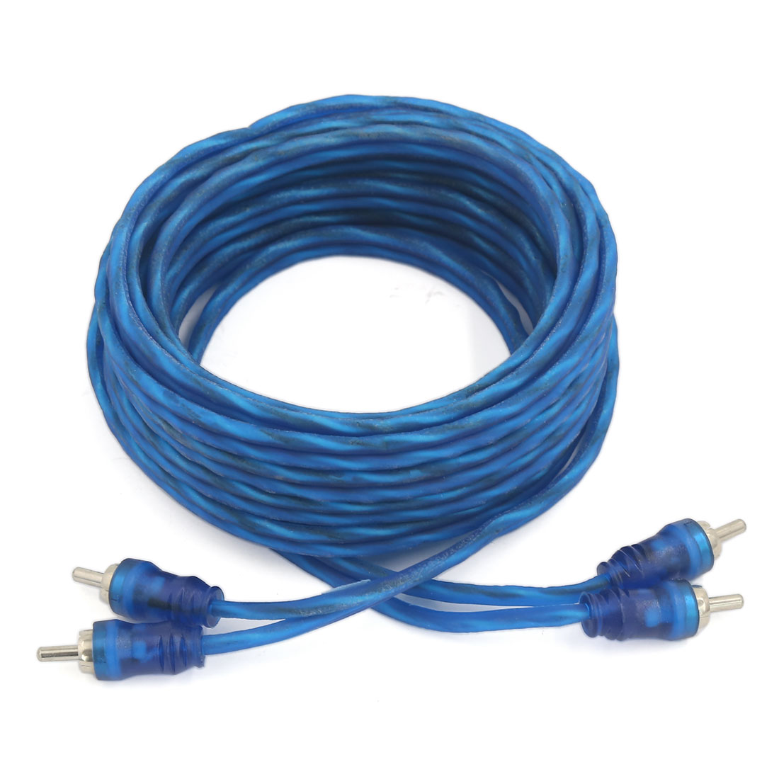 4.5M 2 RCA Audio Video System AV Extension Cable Male to Male Cord Wire Blue
