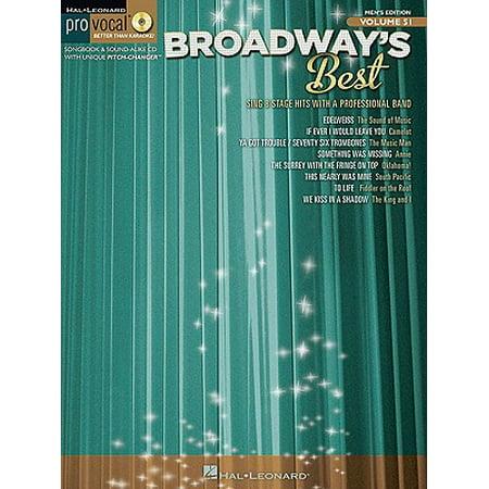 Hal Leonard Broadway's Best Pro Vocal Songbook & CD for Male Singers Volume