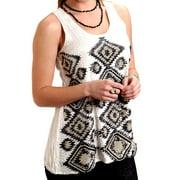 Stetson Western Shirt Womens Aztec Tank Cream 11-052-0565-0688 WH