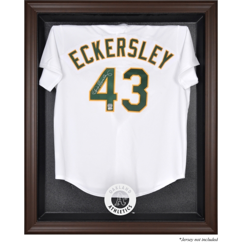 Oakland Athletics Fanatics Authentic Brown Framed Logo Jersey Display Case - No Size