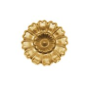 Nunn Design Solid Brass Stamping Large Marigold Flower Embellishment 22mm (1)