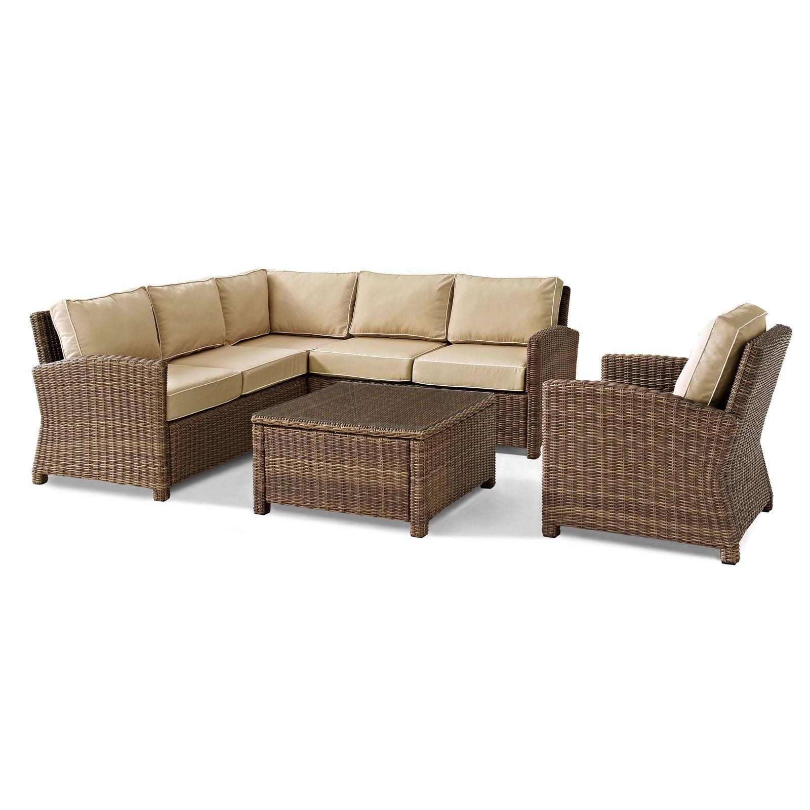 Crosley Furniture Bradenton 5 Piece Outdoor Wicker Seating Set