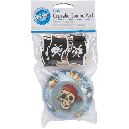 Cupcake Decorative Combo Pack, Pirate, 24-Pack By Wilton Ship from US - Wilton Halloween Cupcake Combo Pack