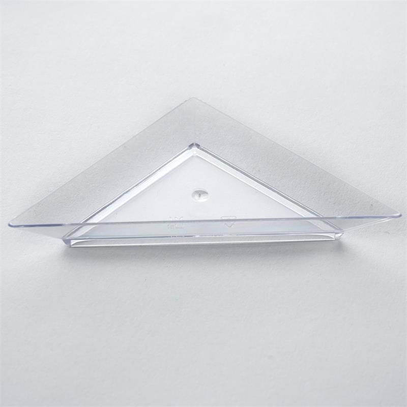 BalsaCircle 25 pcs 4.25\  Disposable Triangular Plastic Plates - Clear  sc 1 st  Walmart.com & BalsaCircle 25 pcs 4.25\