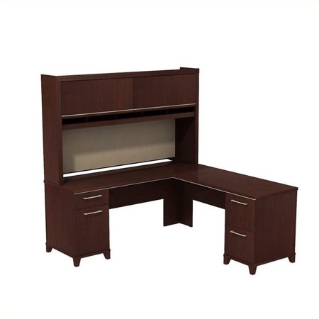 Enterprise 72W x 72D L-Desk with Hutch in Harvest Cherry - image 1 de 1