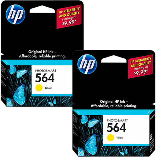 HP 564 Yellow Original Ink Cartridge with Extra Yellow Ink