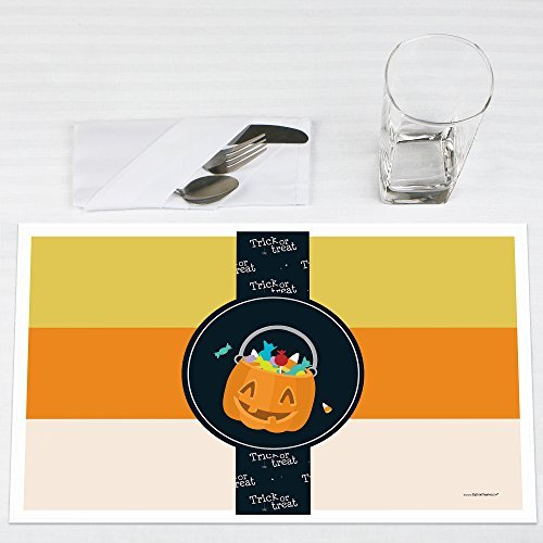 Trick or Treat Halloween Party Placemats Set of 12 by Big Dot of Happiness, LLC
