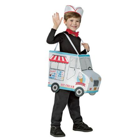 Swirlys Ice Cream Halloween Costume, One Size, (4-6) (Ice Cream Girl Costume)