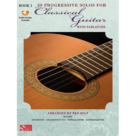 Hal Leonard 39 Progressive Solos for Classical Guitar - Book 1 with CD (TAB) Progressive Guitar Method Book
