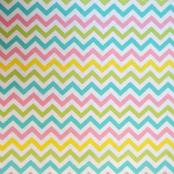 SheetWorld Fitted Crib / Toddler Sheet - Pastel Chevron