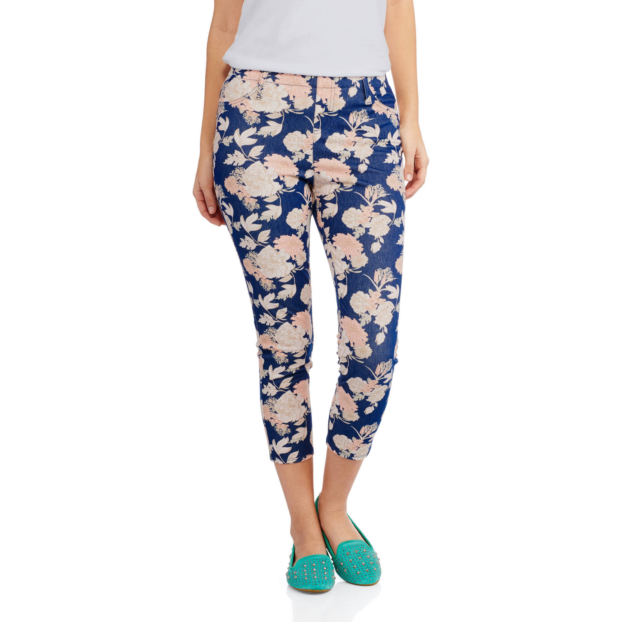 Faded Glory Women's Capri Knit Color Jegging