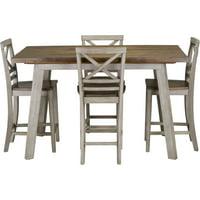 Cambridge Garden Grove 5-Piece Counter-Height Wood Dining Set