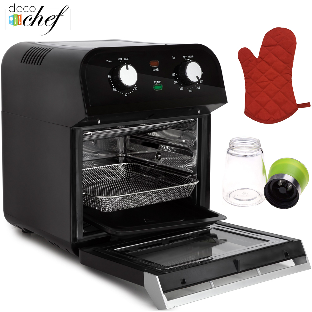 Deco Chef XL 12.7 QT Multi-Function High Capacity Oven Airfryer with Oven Mitt and Spice Mill