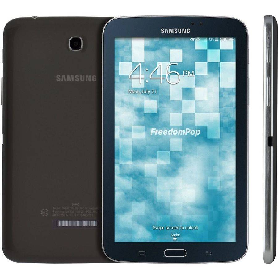 "Certified Preowned FreedomPop Samsung Galaxy Tab 3 with WiFi/4G 7"" Touchscreen Tablet PC Featuring Android 4.1.2 (Jelly Bean) Operating System, Black"