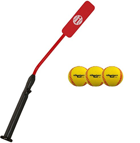 Insider Bat Size 7 (Ages 12 and Up) & 3 Anywhere Balls Complete Baseball Softball Batting Practice Kit