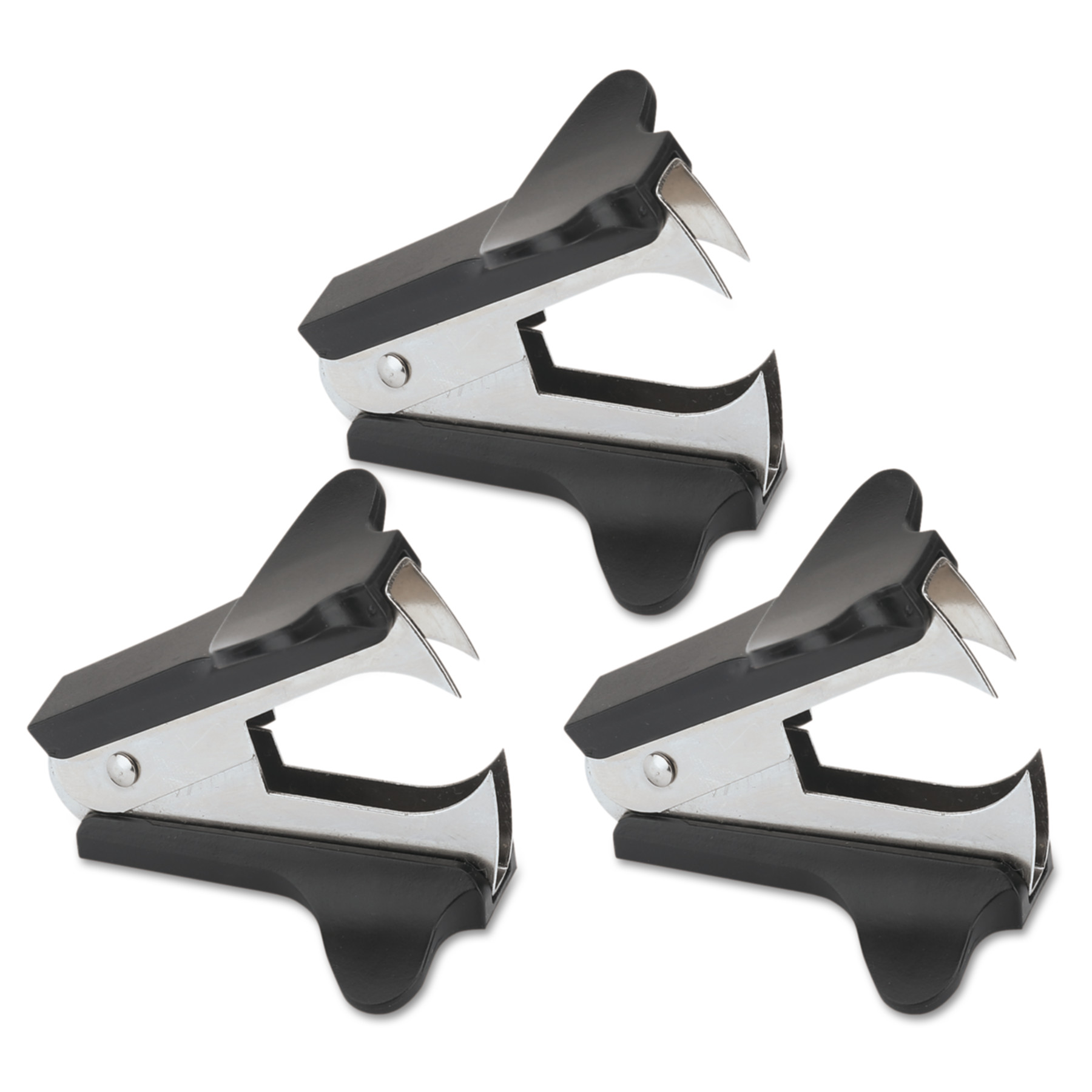 Office Impressions Jaw Style Staple Remover, Brown, 3/PK