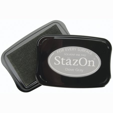 - StazOn Solvent Ink Pad-Dove Gray