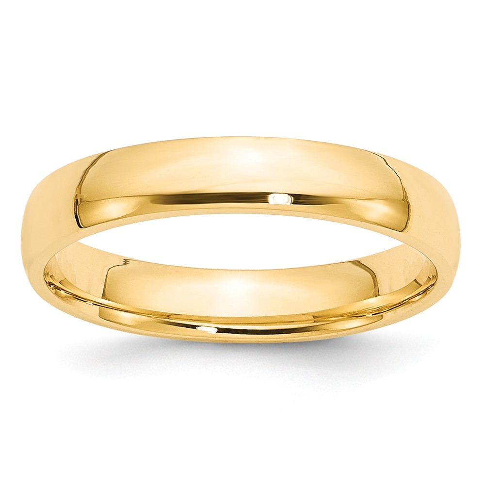 14k Yellow Gold 4mm Ltw Comfort Fit Wedding Ring Band Size 4