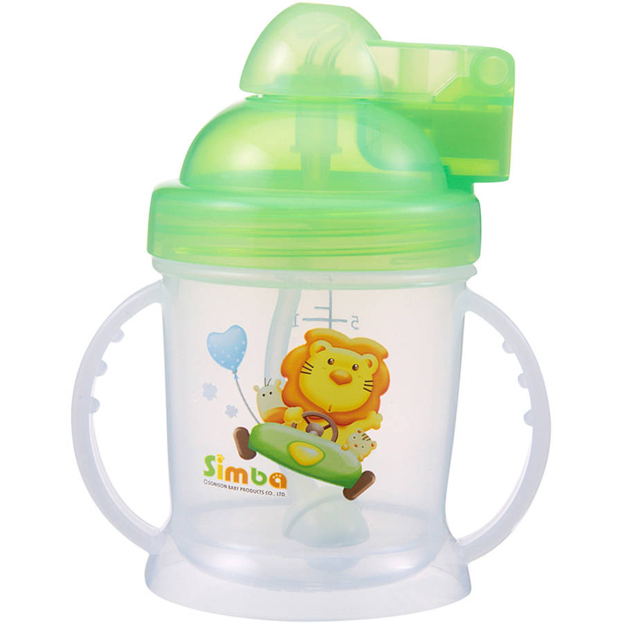 Simba 6 oz Pop Lid Training Cup, Green