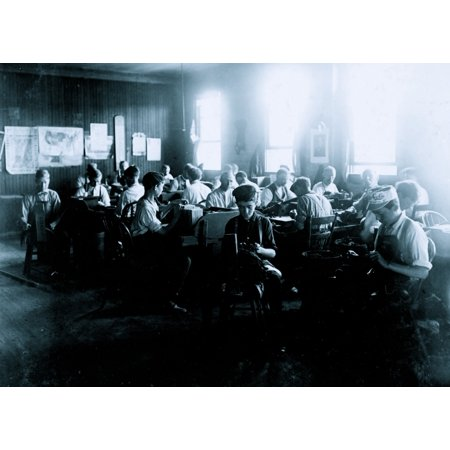 Cigar Factory Indianapolis Ind Boys in foreground Poster Print](Its A Boy Cigars)