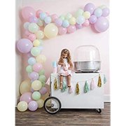 Balloon Arch & Garland Kit. Baby Shower, Wedding, Kid's Birthday, Gender Reveal & Party Decorations– Pastel Pink, Blue, Purple, Yellow & Green balloons. 16.5' decorating strip -Balloon pump included
