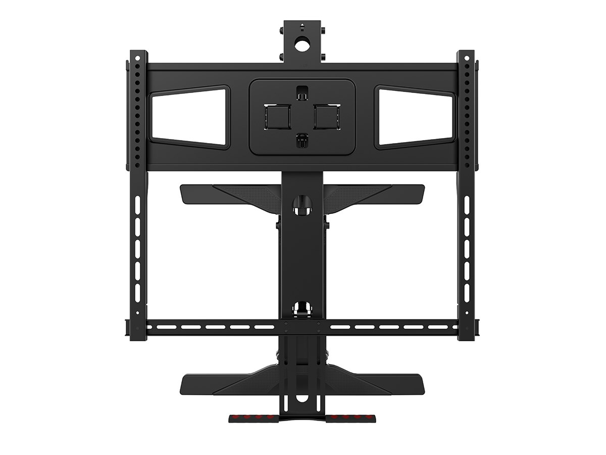 monoprice above fireplace pulldown fullmotion tv wall mount